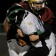 Ashley High School Daniel Suggs tackles West Brunswick's Anthony McRay Friday November 7, 2014. (Jason A. Frizzelle)
