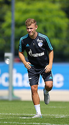 21.07.2015, Trainingsanlage FC Schalke 04, Gelsenkirchen, GER, 1. FBL, FC Schalke 04, Training, im Bild Max Mayer (Schalke) beim Stretching // during a training session of the German Bundesliga Club FC Schalke 04 at the Trainingsanlage FC Schalke 04 in Gelsenkirchen, Germany on 2015/07/21. EXPA Pictures © 2015, PhotoCredit: EXPA/ Eibner-Pressefoto/ Hommes<br /> <br /> *****ATTENTION - OUT of GER*****
