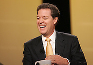 28 August 2007: Republican presidential hopeful and Senator Sam Brownback (R-KS) smiles as he answers a question at the LIVESTRONG Presidential Cancer Forum in Cedar Rapids, Iowa on August 28, 2007.