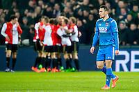 ROTTERDAM - 03-03-2016, Feyenoord - AZ, stadion de Kuip, 3-1, teleurstelling bij AZ speler Vincent Janssen na de 1-0.