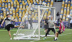 May 25, 2018 - Kiev, Ukraine - Liverpool FC players are seen during their training session for UEFA Champions League Final  at NSC Olimpiyskyi in Kyiv, Ukraine, May 25, 2018. UEFA Champions League Final  (Credit Image: © Sergii Kharchenko/NurPhoto via ZUMA Press)