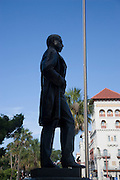 Henry Flagler statue, Flagler College, St. Augustine, Florida, USA<br />