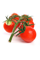 Tomato on white background - studio shot