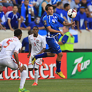 Rafael Edgardo Burgos, El Salvador, in action during the El Salvador Vs Trinidad and Tobago CONCACAF Gold Cup group B football match at Red Bull Arena, Harrison, New Jersey. USA. 8th July 2013. Photo Tim Clayton