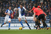 Blackburn Rovers striker, Chris Brown (9) during the Sky Bet Championship match between Blackburn Rovers and Brighton and Hove Albion at Ewood Park, Blackburn, England on 16 January 2016.