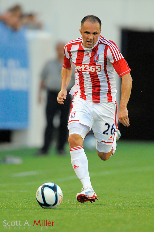 Stoke City Potters midfielder Matthew Etherington (26) during the Potters game against the Orlando City Lions at the Florida Citrus Bowl on July 28, 2012 in Orlando, Florida. Stoke won 1-0...© 2012 Scott A. Miller.