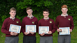 Rice College Awards 2017<br /> Excellence awards presented to cyclists Eoghan McLoughlin, Shane Ryall, Aaron Doherty and Ben Walsh.<br />