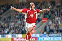 Photo: Ashley Pickering.<br /> Norwich City v Bristol City. Coca Cola Championship. 20/10/2007.<br /> Scott Murray celebrates scoring the second goal for Bristol