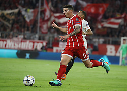 11.04.2018, Allianz Arena, Muenchen, GER, UEFA CL, FC Bayern Muenchen vs Sevilla FC, Viertelfinale, R&uuml;ckspiel, im Bild James Rodriguez // during the UEFA Champions League Quarterfinal, 2nd leg Match between FC Bayern Muenchen vs Sevilla FC at the Allianz Arena in Muenchen, Germany on 2018/04/11. EXPA Pictures &copy; 2018, PhotoCredit: EXPA/ SM<br /> <br /> *****ATTENTION - OUT of GER*****