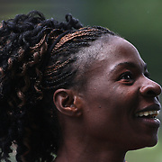 Amantle Montsho, Botswana, after winning the Women's 400m at the Diamond League Adidas Grand Prix at Icahn Stadium, Randall's Island, Manhattan, New York, USA. 25th May 2013. Photo Tim Clayton