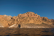 Sierra Helada cliffs from the sea, Benidorm, Alicante province, Spain, Europe