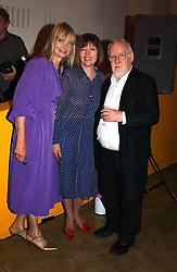 Left to right, JAN DE VILLENEUVE, and MR & MRS PETER BLAKE at a party to celebrate the opening of an exhibition by Daisy de Villeneuve at the Fashion and Textile Museum, Bermondsey Street, London SE1 on 25th June 2004.