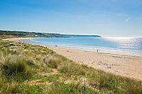 Port Eynon beach and coastline<br /> Gower Peninsula<br /> Swansea County<br /> South<br /> Coastal Scenery