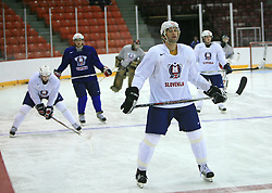 Anze Terlikar at practice of Slovenian national team at Hockey IIHF WC 2008 in Halifax,  on May 04, 2008 in Metro Center, Halifax, Canada.  (Photo by Vid Ponikvar / Sportal Images)
