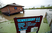 Tewkesbury Cricket ground  in Tewkesbury  flooded on May 1st 2012 as UK record rainfall causes flooding..Photo Times Photographer /Ki Price .....