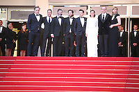 The cast on the red steps at The Immigrant film gala screening at the Cannes Film Festival Friday 24th May May 2013