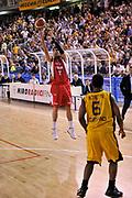 DESCRIZIONE : Vigevano Lega A2 2009-10 Playoff Miro Radici Fin. Vigevano - Trenkwalder Reggio Emilia<br /> GIOCATORE : Boscagin<br /> SQUADRA : Reggio Emilia<br /> EVENTO : Playoff Lega A2 2009-2010<br /> GARA : Miro Radici Fin. Vigevano - Trenkwalder Reggio Emilia<br /> DATA : 16/05/2010<br /> CATEGORIA : Tre Punti<br /> SPORT : Pallacanestro <br /> AUTORE : Agenzia Ciamillo-Castoria/D.Pescosolido