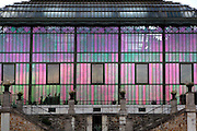 New Caledonia Glasshouse (formerly The Mexican Hothouse), 1830s, Charles Rohault de Fleury, Jardin des Plantes, Museum National d'Histoire Naturelle, Paris, France. General view of the recently restored building at sunset.