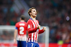 August 25, 2018 - Griezmann of Atletico de Madrid celebrates the goal during the spanish league, La Liga, football match between Atletico de Madrid and Rayo Vallecano on August 25, 2018 at Wanda Metropolitano stadium in Madrid, Spain. (Credit Image: © AFP7 via ZUMA Wire)
