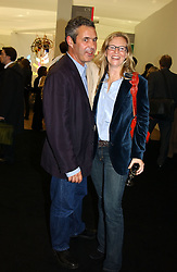 SAM HODGKIN and ALANNAH WESTON at a private view of the 2004 Frieze Art Fair - a major exhibition attended by most of the leading contempoary art dealers held in Regents Park, London on 14th October 2004.NON EXCLUSIVE - WORLD RIGHTS