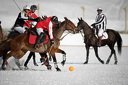 Philipp Maeder of the Switzerland going for the ball<br /> St.Moritz Polo World Cup On Snow 2011<br /> © Dirk Caremans