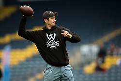 Vernon Kay throws the ball around with the London Warriors, his old team  - Mandatory by-line: Jason Brown/JMP - 27/08/2016 - AMERICAN FOOTBALL - Sixways Stadium - Worcester, England - London Warriors v London Blitz - BAFA Britbowl Finals Day