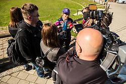 Ilka Stuhec at media day of Ski Association of Slovenia before new winter season 2018/19, on October 4, 2018 in Ski resort Pohorje, Maribor, Slovenia. Photo by Grega Valancic / Sportida