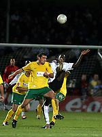 Photo: Mark Stephenson/Sportsbeat Images.<br /> Hereford United v Hartlepool United. The FA Cup. 01/12/2007.Hereford's Toumani Diagouraga clears the ball
