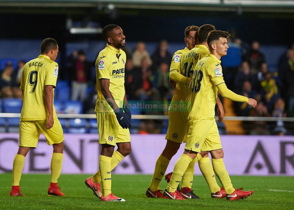 November 30, 2017 - Vila-Real, Castellon, Spain - Villarreal CF players celebrates after scoring a goal during the Copa del Rey, Round of 32, Second Leg match between Villarreal CF and SD Ponferradina at Estadio de la Ceramica on november 30, 2017 in Vila-real, Spain. (Credit Image: © Maria Jose Segovia/NurPhoto via ZUMA Press)