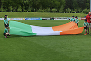 Republic of Ireland flag bearers during the UEFA European Under 17 Championship 2018 match between Bosnia and Republic of Ireland at Stadion Bilino Polje, Zenica, Bosnia and Herzegovina on 11 May 2018. Picture by Mick Haynes.