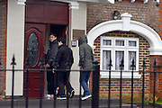 © Licensed to London News Pictures. 09/04/2013. London, UK People arrive at the embassy. Boxes are loaded into a shipping container from the North Korean Embassy in Ealing London today 9th April 2013. On Friday North Korea warned it would not be able to guarantee the safety of embassy staff in their country in the event of a war. Photo credit : Stephen Simpson/LNP