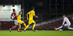 UPTON PARK, ENGLAND - Friday, September 12, 2014: Liverpool's Samed Yesil scores the third goal against West Ham United during the Under 21 FA Premier League match at Upton Park. (Pic by David Rawcliffe/Propaganda)