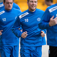 St Johnstone Training...30.08.13<br /> David Wotherspoon pictured in training this morning at McDiarmid Park ahead of tomorrow's game at Aberdeen.<br /> Picture by Graeme Hart.<br /> Copyright Perthshire Picture Agency<br /> Tel: 01738 623350  Mobile: 07990 594431