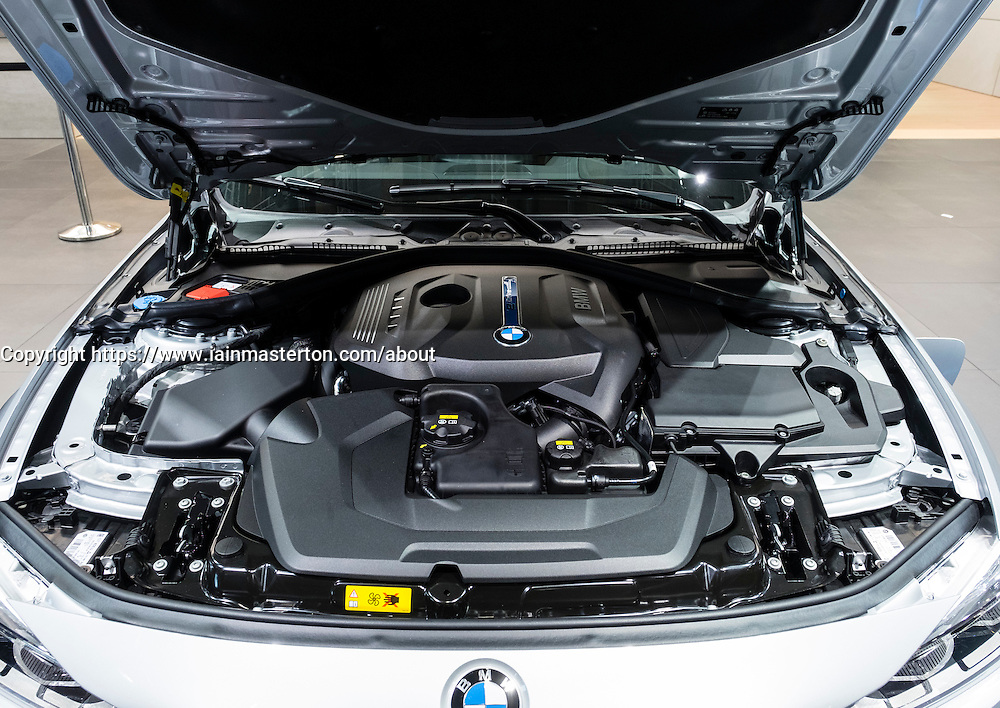 View of BMW eDrive electric motor at Paris Motor Show 2016