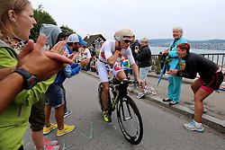 27.07.2014, Zürich, SUI, Ironman Zuerich 2014, im Bild Jan Van Berkel (SUI) im Heartbrake Hill // during the Zurich 2014 Ironman, Switzerland on 2014/07/27. EXPA Pictures © 2014, PhotoCredit: EXPA/ Freshfocus/ Claude Diderich<br /> <br /> *****ATTENTION - for AUT, SLO, CRO, SRB, BIH, MAZ only*****