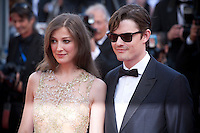 Actor Sam Riley and Alexandra Maria Lara at the gala screening for the film Elle at the 69th Cannes Film Festival, Saturday 21st May 2016, Cannes, France. Photography: Doreen Kennedy