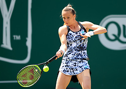 Slovakia's Magdalena Rybarikova in action during her quarter final against Slovenia's Dalila Jakupovic during day five of the Nature Valley Classic at Edgbaston Priory, Birmingham.