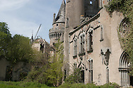 bel air castle in ruins in limousin france