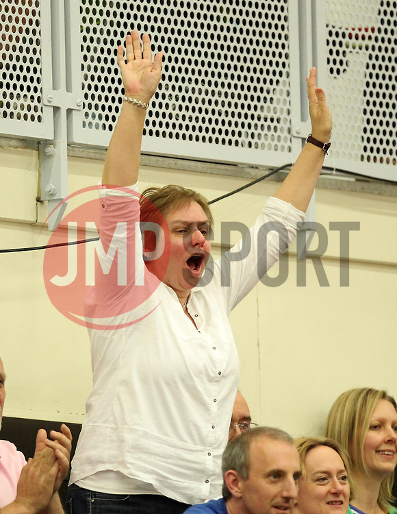 A Flyers fan cheers - Photo mandatory by-line: Robbie Stephenson/JMP - Mobile: 07966 386802 - 18/04/2015 - SPORT - Basketball - Bristol - SGS Wise Campus - Bristol Flyers v Leeds Force - British Basketball League