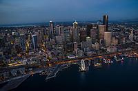 Seattle Waterfront Illuminated