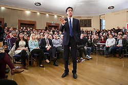 © licensed to London News Pictures. London, UK 17/01/2014. Ed Miliband, Leader of the Labour Party delivers a speech on the economy at University of London on Friday, 17 January 2014. Photo credit: Tolga Akmen/LNP