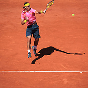 Rafael Nadal of Spain in action against Lleyton Hewitt of Australia during the third round match at the French Open Tennis Tournament at Roland Garros in Paris, France on Friday, May 29, 2009. Photo Tim Clayton
