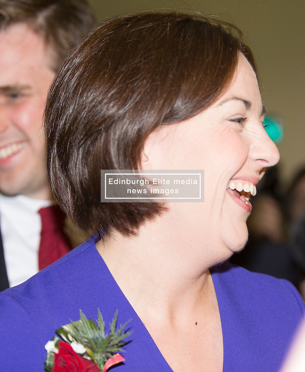 Scottish Parliament Election 2016 Royal Highland Centre Ingliston Edinburgh 05 May 2016; Kezia Dugdale (Scottish Labour Party leader) arrives during the Scottish Parliament Election 2016, Royal Highland Centre, Ingliston Edinburgh.<br /> <br /> (c) Chris McCluskie | Edinburgh Elite media