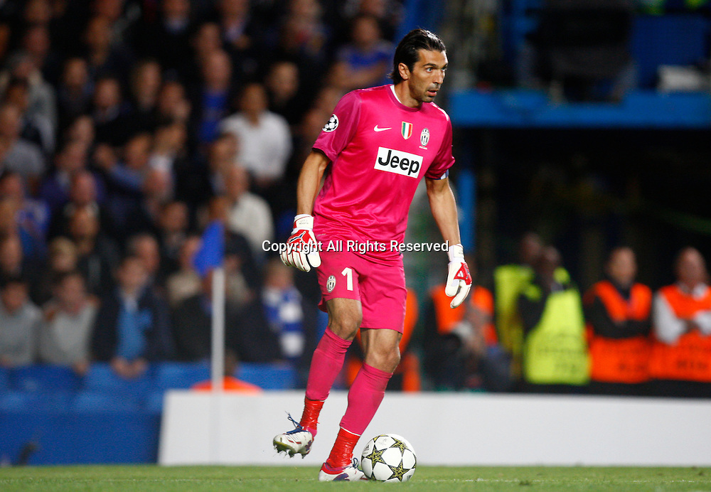 19.09.12 London, ENGLAND: <br /> Gianluigi Buffon of Juventus F.C. <br /> during the UEFA Champions League Group E match between Chelsea and  Juventus at Stamford Bridge Stadium
