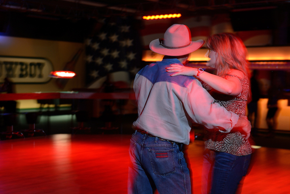 Couple dancing at Electric Horse Saloon,Dallas, Texas,USA
