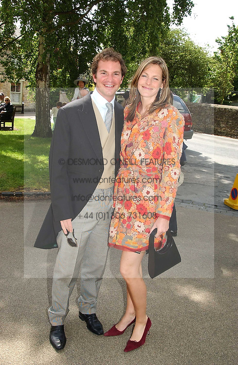 The HON.CAMILLA ASTOR and DOMINIC TRUSTED at the wedding of Hugh van Cutsem to Rose Astor in Burford, Oxfordshire on 4th June 2005.<br /><br />NON EXCLUSIVE - WORLD RIGHTS