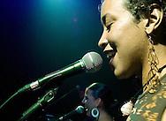 American Cathy Elliott sings as part of a Jamiroqui cover band in Aguijon. Cathy Elliott, a singer from New York, sings in a Jamiroquai cover band in Quito, Ecuador.