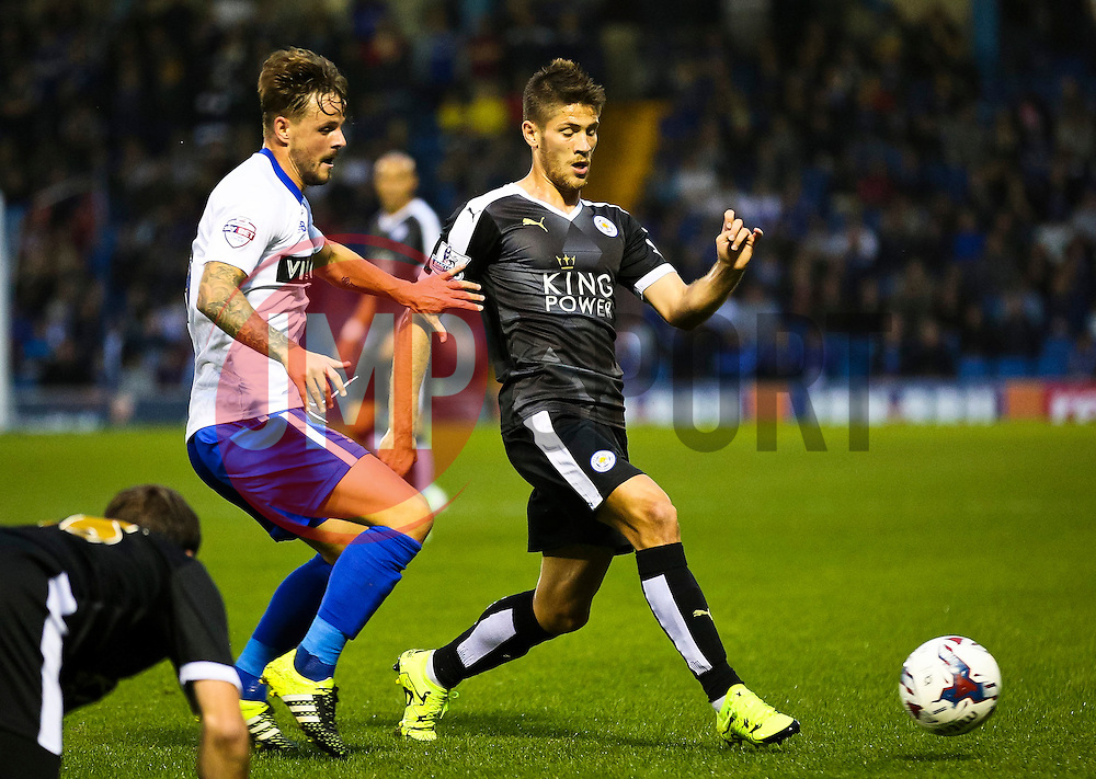 Andrej Kramaric of Leicester City attacks  - Mandatory byline: Matt McNulty/JMP - 07966386802 - 25/08/2015 - FOOTBALL - Gigg Lane -Bury,England - Bury v Leicester City - Capital One Cup - Second Round