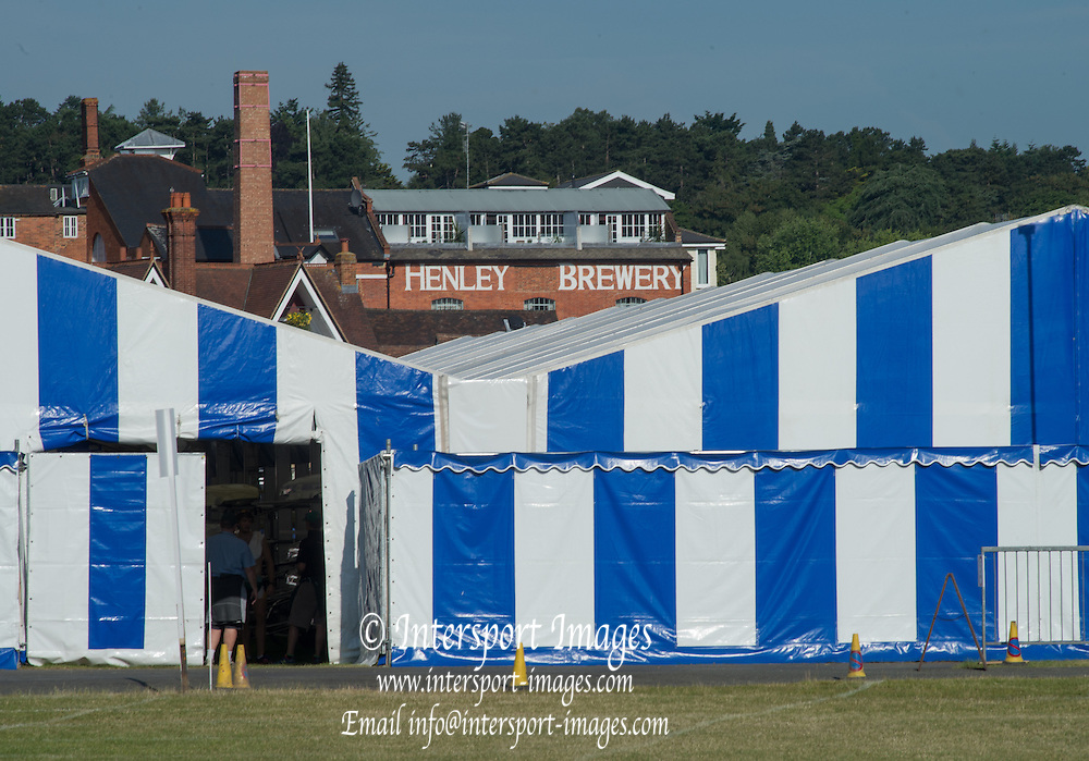 Henley. Great Britain. General View, Boat Tents. 175th  Henley Royal Regatta, Henley Reach. England. 09:18:04  Tuesday  01/07/2014. [Mandatory Credit; Peter Spurrier/Intersport-images]