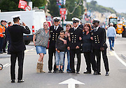 Members of the crew of the Tall Ship Gloria from Colombia pose for pictures with locals at the Tall Ships Festival In Waterford..Picture Dylan Vaughan